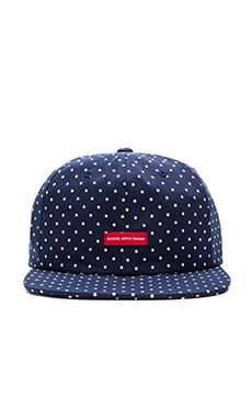 Herschel Supply Co. Troy Cap in Navy & White Polka Dot