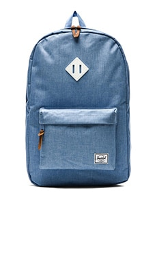 Herschel Supply Co. Heritage in Chambray Crosshatch & White Rubber