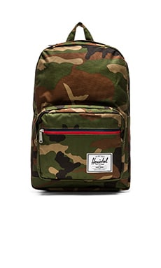 Herschel Supply Co. Pop Quiz in Woodland Camo & Stripe Zipper