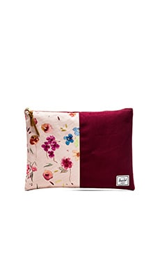 Herschel Supply Co. Network Pouch XL in Ruby Khaki & Windsor Wine