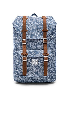 Herschel Supply Co. Mid Volume Little America in Floral Chambray