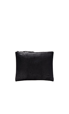 Herschel Supply Co. Network Large Leather in Black Snack