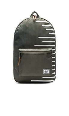 Herschel Supply Co. Settlement in Deep Lichen Green & Blanc de Blanc Stripes