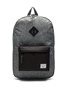 Herschel Supply Co. Heritage in Raven Crosshatch & Black Pebbled