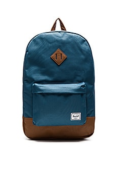 Herschel Supply Co. Heritage in Indian Teal & Tan