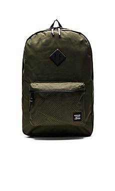 Herschel Supply Co. Aspect Heritage in Forest Night & Black Rubber