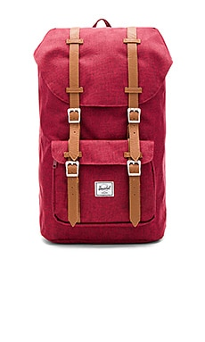 Herschel Supply Co. Little America in Winetasting Crosshatch & Tan
