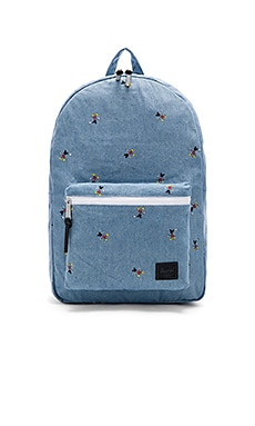 Herschel Supply Co. For Disney Settlement in Denim & Black
