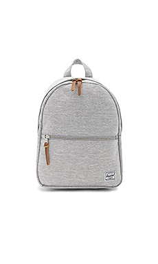 Town Backpack in Light Grey Crosshatch