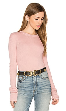 Lily Crew Neck Sweater in Pale Pink
