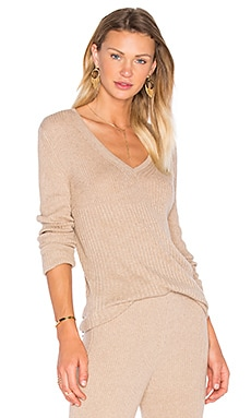 HELFRICH Mimi V Neck Sweater in Camel
