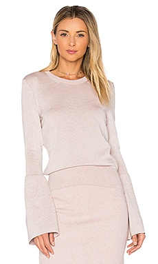 Janis Crew Neck Sweater in Pale Pink