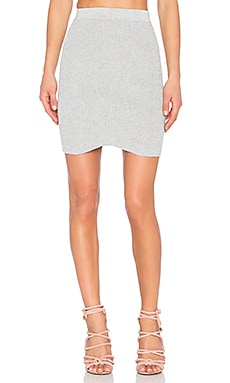 Kiki Lurex Skirt in Light Heather Grey