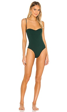 Vintage Crepe Maillot One Piece HAIGHT. $174