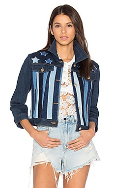 Patchwork 5 Pocket Denim Jacket