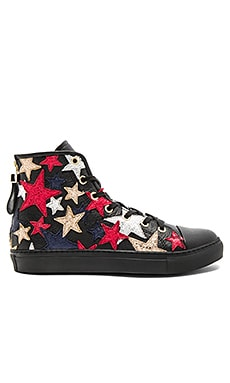 Rock N Roll High Sneaker in Jet Black & Multi