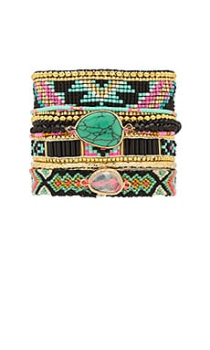Dalhia Bracelet in Black Multi
