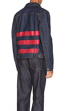 Re-Edition Red Stripe Denim Jacket