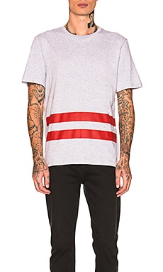 Re-Edition Red Stripe T-Shirt Helmut Lang $150