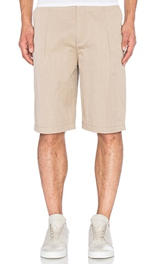 Helmut Lang Washed Sateen Short in Dark Sand