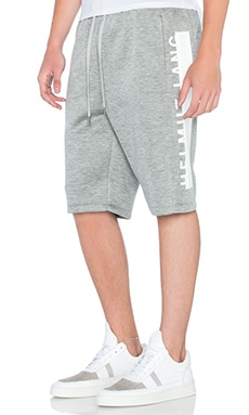 Helmut Lang Logo Track Short in Heather Grey