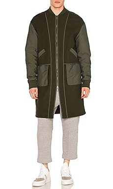 Helmut Lang Oversized Bomber Coat in Nato Green