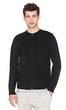 Helmut Lang Collarless Bomber in Black