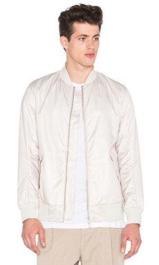 Helmut Lang Labyrinth Print Bomber in Sand Multi