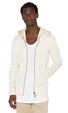 Helmut Lang Tape Zip Up in Sand Heather