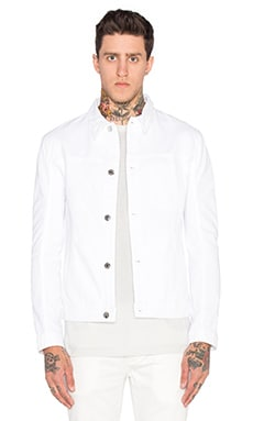 Helmut Lang Distressed Denim Jacket in Optic White