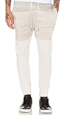 Helmut Lang Curved Leg Track Pant in Sand Heather
