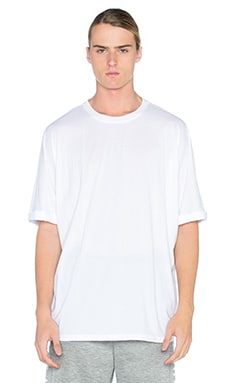 Helmut Lang Oversized Uni Sleeve Tee in Optic White