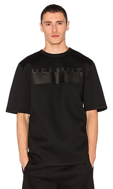 Helmut Lang Logo Oversized S/S Tee in Black