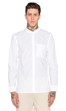 Helmut Lang L/S Bomber Shirt in Optic White