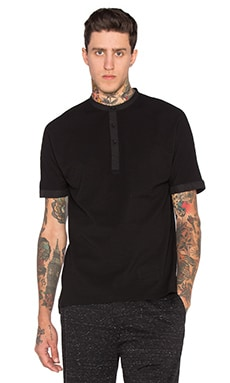 Helmut Lang Uni Sleeve Polo in Black
