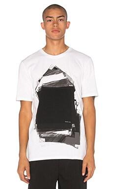 Helmut Lang Transparency Tee in Black & White Multi