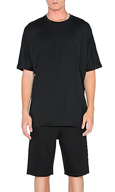 Oversized Uni Sleeve Tee in Black