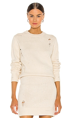 Distressed Crew Sweater Helmut Lang $395