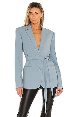 Belted Wool Blazer Helmut Lang $525