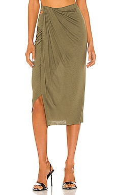 Ruched Jersey Skirt Helmut Lang $132