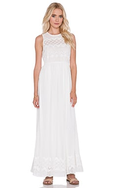 harlyn Eyelet Maxi Dress in Ivory