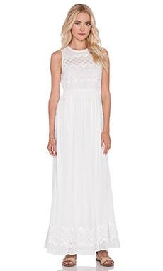 harlyn Eyelet Maxi Dress in Ivory