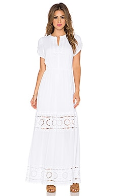 harlyn Tiered Maxi Dress in Ivory