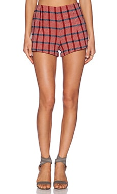 harlyn Tap Shorts in Poppy Plaid