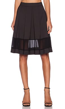 harlyn Midi Skirt in Noir