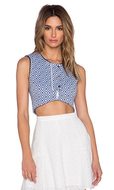 harlyn Crop Top in Bleu