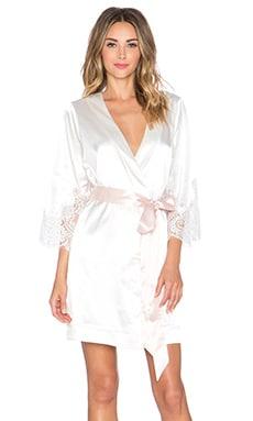 homebodii Lola Kimono Robe in White