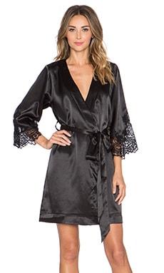 homebodii Lola Kimono Robe in Black