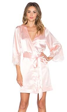 homebodii Lola Kimono Robe in Peach