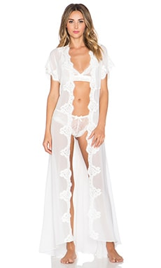 homebodii Farrah Long Robe in Ivory